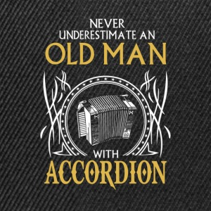 Never underestimate an old man with accordion.png T-Shirts - Snapback Cap