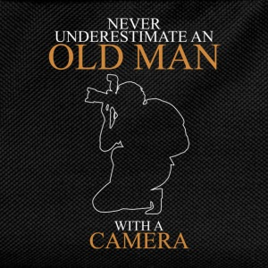 Never Underestimate An Old Man Camera.png T-Shirts - Kids' Backpack