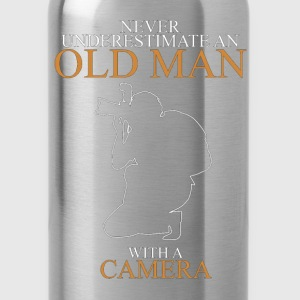 Never Underestimate An Old Man Camera.png T-Shirts - Water Bottle