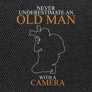 Never Underestimate An Old Man Camera.png T-Shirts - Snapback Cap