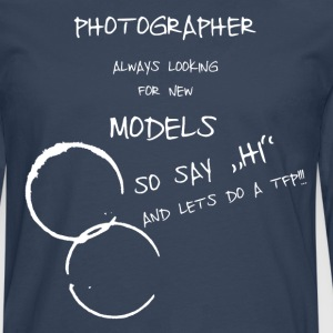 Photographer and Model Pullover & Hoodies - Männer Premium Langarmshirt