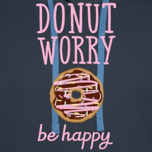 Donut Worry - Be Happy T-skjorter - Premium hettegenser for menn