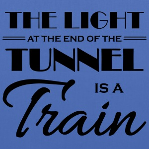 The light at the end of the tunnel is a train T-shirts - Tas van stof