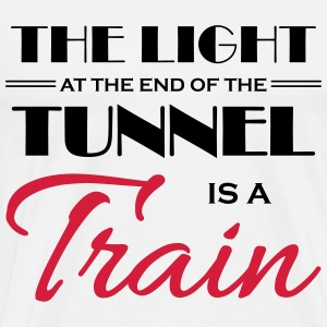 The light at the end of the tunnel is a train Långärmade T-shirts - Premium-T-shirt herr