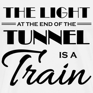 The light at the end of the tunnel is a train Langærmede t-shirts - Herre premium T-shirt
