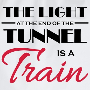 The light at the end of the tunnel is a train T-shirts - Gymtas