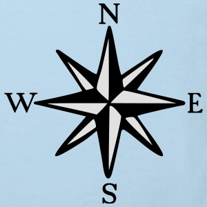 Compass Rose One-Piece (two-color) - Kids' Organic T-shirt