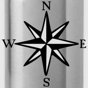 Compass Rose One-Piece (two-color) - Water Bottle