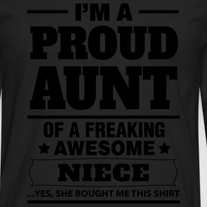 I'm A Proud Aunt Of A Freaking Awesome Niece T-Shirts - Men's Premium Longsleeve Shirt