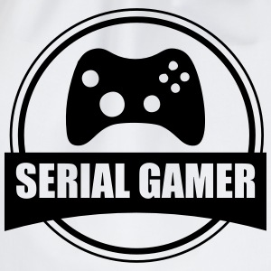 T-shirt Gamer Serial Gamer - Sportstaske