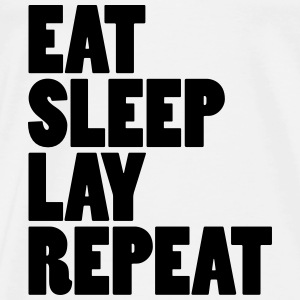 Eat sleep lay repeat Babybody - Premium-T-shirt herr
