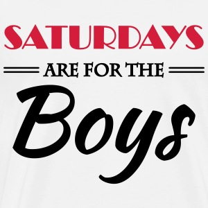 Saturdays are for the boys Skjorter med lange armer - Premium T-skjorte for menn