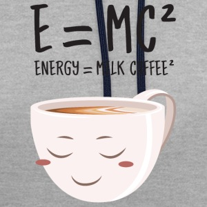E = MC² - Energy = Milk Coffee² T-shirts - Kontrast-hættetrøje