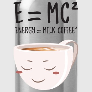 E = MC² - Energy = Milk Coffee² T-shirts - Drikkeflaske