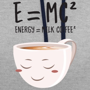 E = MC² - Energy = Milk Coffee² T-skjorter - Kontrast-hettegenser