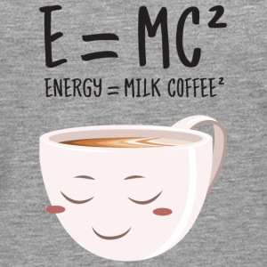 E = MC² - Energy = Milk Coffee² T-skjorter - Premium langermet T-skjorte for menn