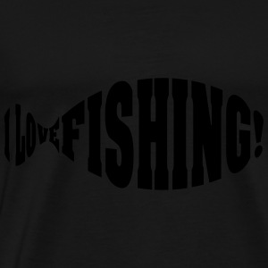 i love fishing Hoodies - Men's Premium T-Shirt