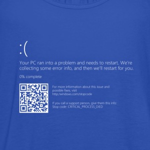 Windows 10 Blue Screen T-Shirt - Women's Tank Top by Bella