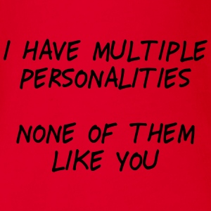 i have multiple personalities II Manches longues - Body bébé bio manches courtes