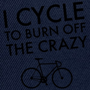 I Cycle To Burn Off The Crazy T-Shirts - Snapback Cap