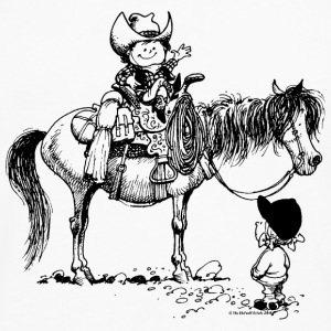 Thelwell Cowboy with his Pony - Men's Premium Longsleeve Shirt