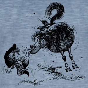 Thelwell Cheeky Pony - Men's Vintage T-Shirt