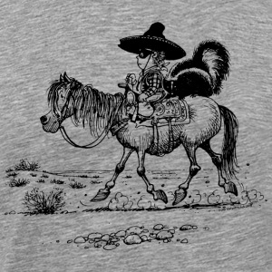 Thelwell Cowboy with a skunk - Men's Premium T-Shirt