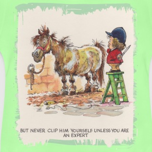 Thelwell Pony with hairdresser - Baby T-Shirt