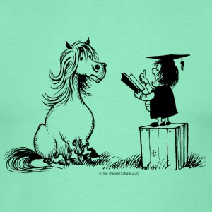 Thelwell Pony learning at school - Men's T-Shirt