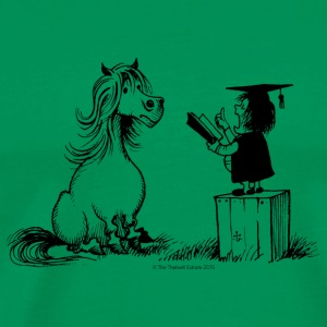 Thelwell Pony learning at school - Men's Premium T-Shirt