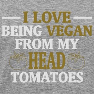 I LOVE ES VEGANS TO BE (FROM HEAD TO TOE) FROM MY HEAD TO MA TOES Long Sleeve Shirts - Men's Premium T-Shirt