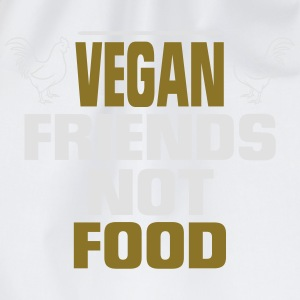 VEGAN FRIENDS - NO FOOD! Long Sleeve Shirts - Drawstring Bag