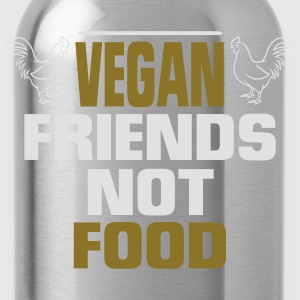 VEGAN FRIENDS - NO FOOD! Long Sleeve Shirts - Water Bottle