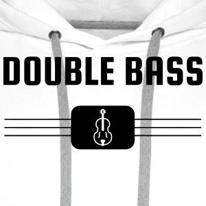 Double Bass - Contrebasse - Music - Kontrabass Mugs & Drinkware - Men's Premium Hoodie