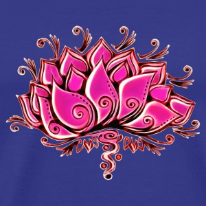 Lotus, Lotusblossom, Lotusflower, Flower, Yoga, OM - Men's Premium T-Shirt