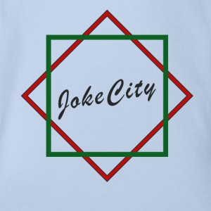 joke city logo Shirts - Organic Short-sleeved Baby Bodysuit