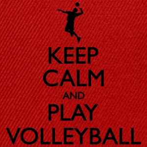 Keep Calm play Volleyball Sweat-shirts - Casquette snapback