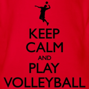 Keep Calm play Volleyball Shirts - Organic Short-sleeved Baby Bodysuit
