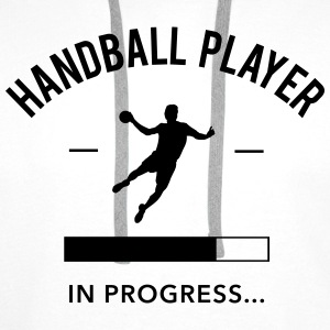 Handball player in progress - Männer Premium Hoodie