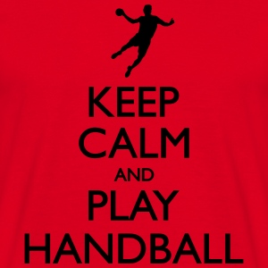 Keep calm and play handball Sweaters - Mannen T-shirt