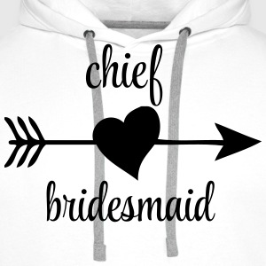 Chief Bridesmaid T-Shirts - Men's Premium Hoodie