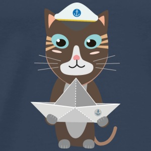 Captain cat paper ship Tops - Men's Premium T-Shirt