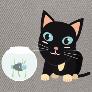 Cat with fish Aquarium T-Shirts - Snapback Cap
