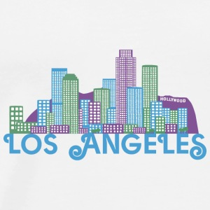 Los Angeles Skyline Bodys Bébés - T-shirt Premium Homme