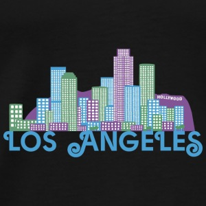 Los Angeles Skyline Toppar - Premium-T-shirt herr