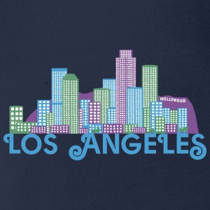 Los Angeles Skyline Long Sleeve Shirts - Organic Short-sleeved Baby Bodysuit