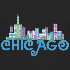 Chicago Skyline Tee shirts - T-shirt manches longues Premium Homme
