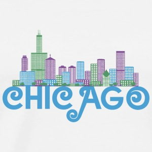 Chicago Skyline Hoodies & Sweatshirts - Men's Premium T-Shirt