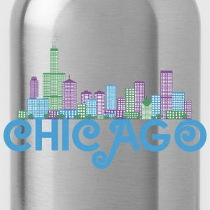 Chicago Skyline Tassen & rugzakken - Drinkfles