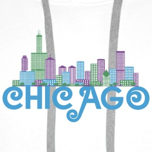 Chicago Skyline Shirts - Men's Premium Hoodie